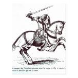 Illustration of a Knight Templar Postcard