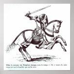 Illustration of a Knight Templar Poster