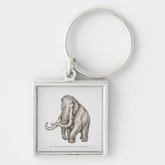 Illustration of a mammoth keychain