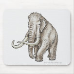 Illustration of a mammoth mouse pad