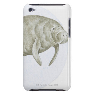 Illustration of a Manatee (Trichechus sp.) Case-Mate iPod Touch Case