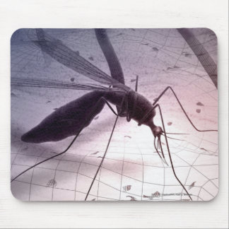 Illustration of a mosquito biting mouse pad