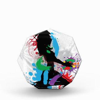 Illustration of a music DJ Acrylic Award