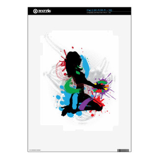 Illustration of a music DJ iPad 2 Decals