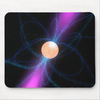 Illustration of a pulsar 2 mouse pad