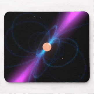 Illustration of a pulsar mouse pad