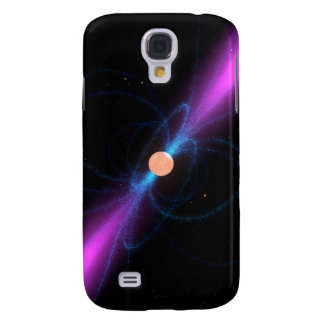 Illustration of a pulsar samsung galaxy s4 cover