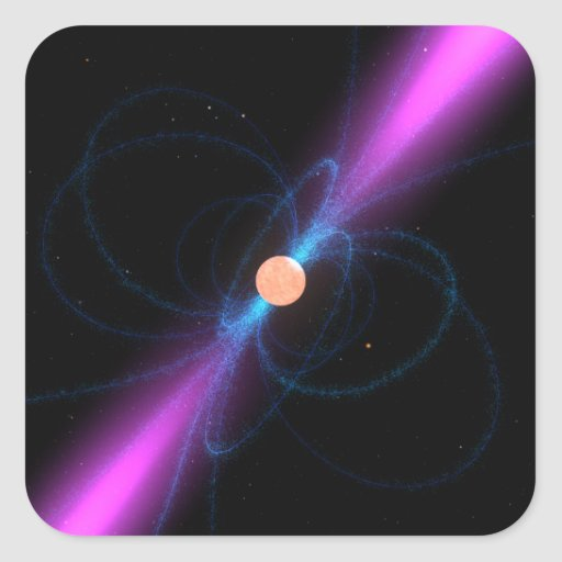 Illustration of a pulsar stickers