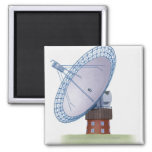 Illustration of a radio telescope 2 inch square magnet