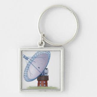 Illustration of a radio telescope key chains