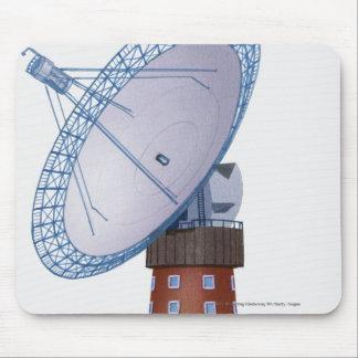 Illustration of a radio telescope mousepad