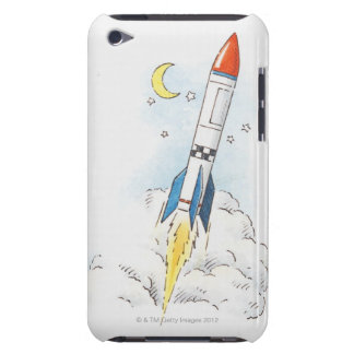 Illustration of a rocket taking off Case-Mate iPod touch case