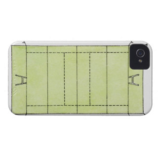 Illustration of a rugby pitch iPhone 4 Case-Mate case