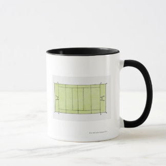 Illustration of a rugby pitch mug