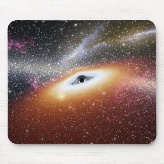 Illustration of a supermassive black hole mouse pad