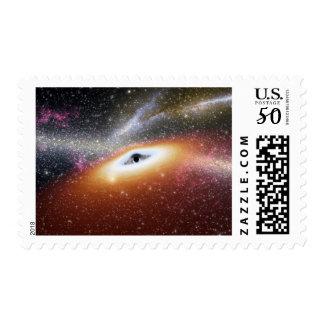 Illustration of a supermassive black hole postage