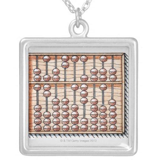 Illustration of abacus custom jewelry