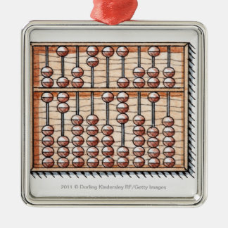 Illustration of abacus christmas tree ornament