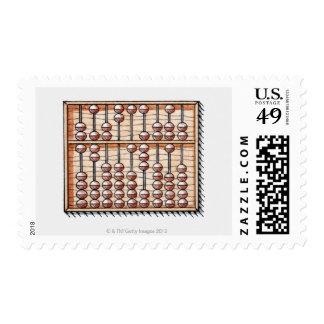 Illustration of abacus postage