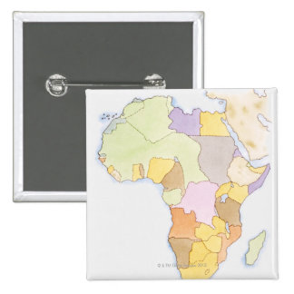 Illustration of African territories and states Button