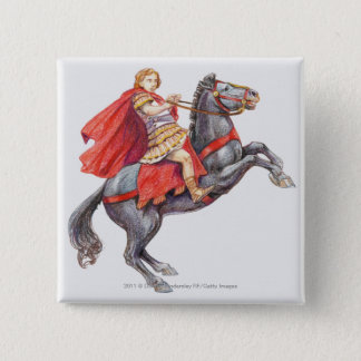 Illustration of Alexander the Great Button