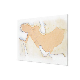 Illustration of Alexander The Great's Empire Canvas Print