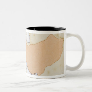 Illustration of Alexander The Great's Empire Two-Tone Coffee Mug