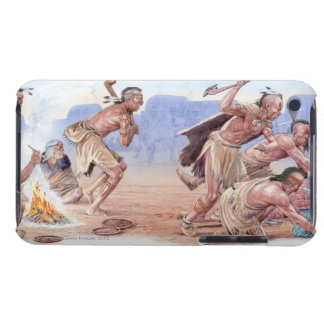 Illustration of American Indians attacking Barely There iPod Case
