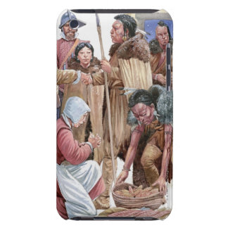 Illustration of American Indians giving English Case-Mate iPod Touch Case