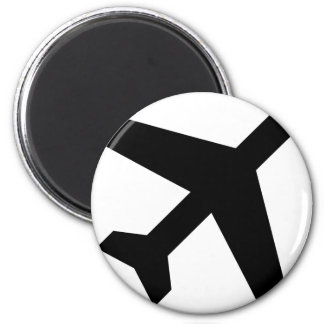 Illustration Of An Airplane Silhouette Magnet