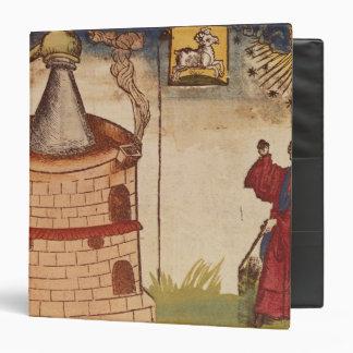 Illustration of an alchemist at work 3 ring binder
