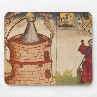 Illustration of an alchemist at work mouse pad