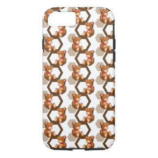 illustration of an array of teddy bear on white iPhone 7 case