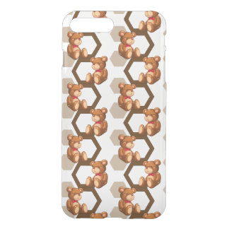 illustration of an array of teddy bear on white iPhone 7 plus case