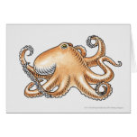 Illustration of an octopus greeting card