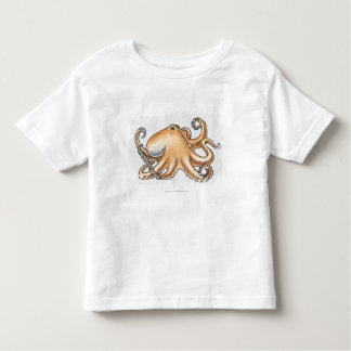 Illustration of an octopus toddler t-shirt