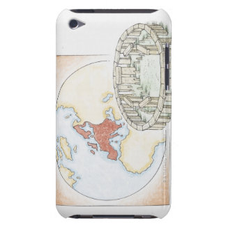 Illustration of ancient stone circle in front of iPod Case-Mate case