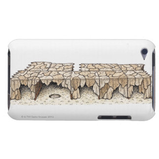 Illustration of animal skins drying on rack barely there iPod cover