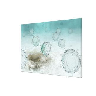 Illustration of avian flu cells canvas print