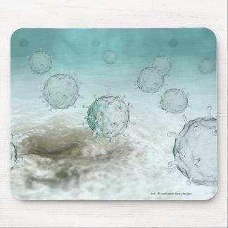 Illustration of avian flu cells mousepads