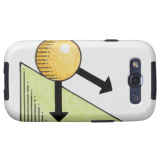 Illustration of ball moving down a slope, arrows samsung galaxy s3 cases