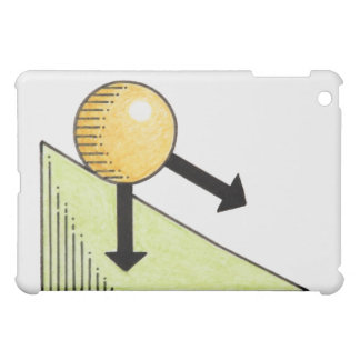 Illustration of ball moving down a slope, arrows iPad mini case