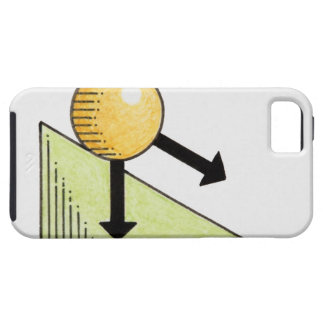Illustration of ball moving down a slope, arrows iPhone SE/5/5s case