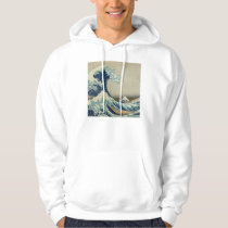 Illustration of blue japanese wave hoodie