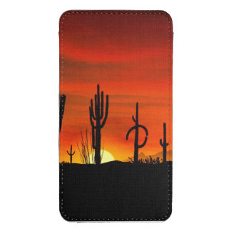 Illustration of cactus tree when the sunset galaxy s4 pouch