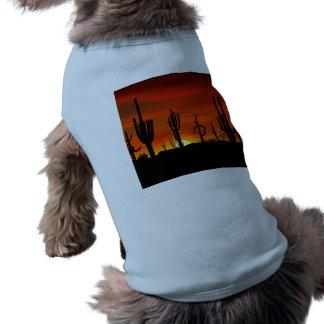 Illustration of cactus tree when the sunset shirt