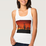 Illustration of cactus tree when the sunset t shirt