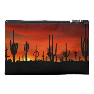Illustration of cactus tree when the sunset travel accessories bags
