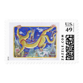 Illustration of Cheerful Dragon, representing Postage