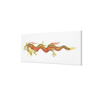 Illustration of Chinese dragon Canvas Print